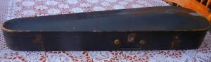 Old coffin style wooden violon case