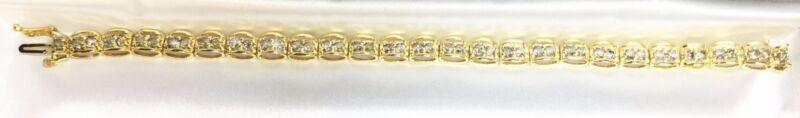 10K Gold bracelet with 9.6Ct diamonds