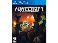 WANTED Minecraft ps4