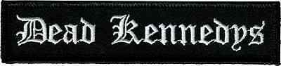 39207 Dead Kennedys Black White Rectangle Logo Punk Rock 80s Sew Iron On Patch