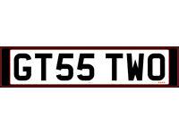 GT55 TWO Cherished Registration Plate - Porsche GT2