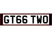 GT66 TWO Cherished Registration Plate - Porsche 991 GT2 RS