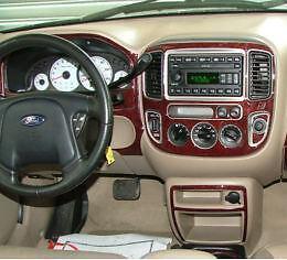 ford escape xlt xls interior wood dash trim kit set 2001. Black Bedroom Furniture Sets. Home Design Ideas