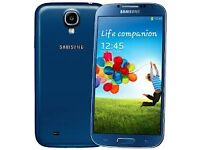 Samsung Galaxy S4 Blue (Unlocked) in good condition
