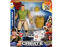 WWE CREATE A SUPERSTAR JOHN CENA, THE ROCK, GOLDDUST AND RUSEV BNIB £30 FOR ALL