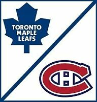 Toronto Maple Leafs VS. Montreal Canadiens Ticket! Wed, Oct 7!
