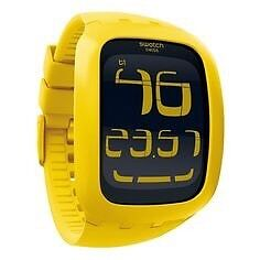 Yellow Touch Screen Swatch Watch