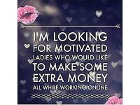 We are looking for inspirational ladies that want to earn monthly income using their own hours.