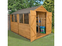 "Wooden garden shed - 12"" x 8"" - Original price 445 pounds - Only 20!"