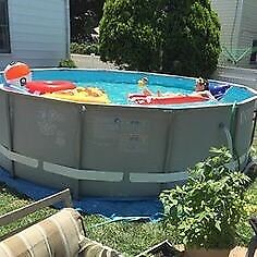INTEX 14 foot wide by 42 inches deep pool