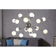 Quality chrome 12 arm globe ceiling sputnick lamp