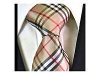 Genuine BURBERRY London Men's classic check tie,100% Silk, costs £125,Bargain at £45