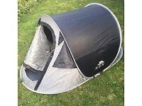 Trespass Festival Pop Up Tent (Black, 2 Man)