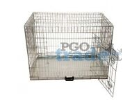 PGO 42″ Extra Large Dog Crate – Silver