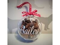 dogs christmas baubles