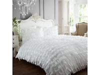 Shabby Chic Satin Bedding Set
