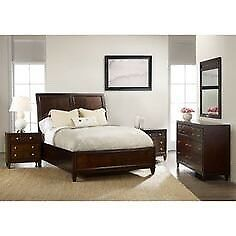 Bedroom set burgundy wood style FREE DELIVERY
