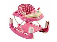 Hello Kitty Baby Walk and Rock Walker Excellent condition