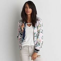 American eagle reversible bomber jacket size xxs fits loose