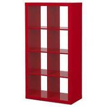 BN ikea Expedit 2x4 8 Cubes High Gloss Red Bookcase Bookshelf Epping Ryde Area Preview