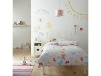 Silentnight Crystal Poppy Bed Frame, Single, White