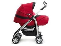Red silver cross buggie / stroller