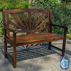 Sandy Point Sandy Point Outdoor Wood Garden Bench NEW