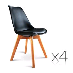 4x Black Eames Replica Dining Chairs Narrabeen Manly Area Preview