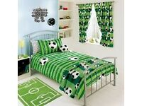 Football Curtains and Single Bed Football Duvet Cover