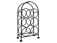 Freestanding Black Iron Wine Rack, 6 bottles - 4 available but can be sold individually