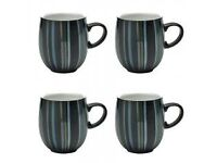 MUGS Jet' striped Denby x5