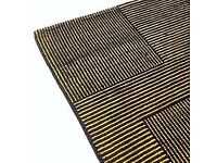 Brand New Tom Dixon designer wool black and yellow rug, RRP £1,200