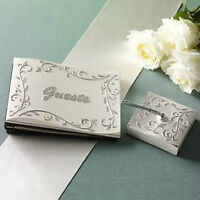 WEDDING GUEST BOOK AND PEN, AND RING BEARER PILLOW BY LENOX