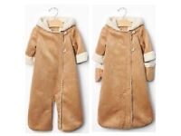 GAP faux sheepskin with hood and mitts - perfect condition - Now sold