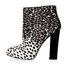 Ann Taylor Cow Print Booties