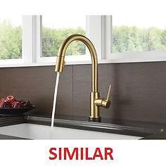 NEW NEWPORT BRASS KITCHEN FAUCET - 130757350 - PULL DOWN SPRAY  W/ MAGNETIC DOCKING SYSTEM ANTIQUE BRASS