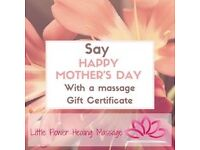 Mother's Day is coming! It is never late for a massage gift certificate..