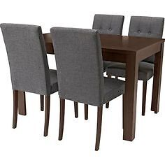 Adaline Walnut Dining Table and 4 grey ChairAdaline Walnut Dining Table and 4 grey Chair   in Somercotes  . Adaline Walnut Extendable Dining Table And 6 Chairs. Home Design Ideas