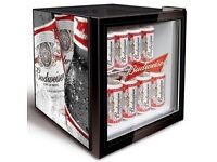 New Style Budweiser Table Top Display Fridge For Cans/Bottles Etc Excellent Condition