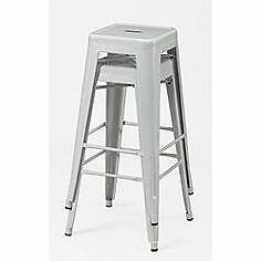 Bar Stool, high gloss white, replica Tolix industrial mid century Prospect Prospect Area Preview