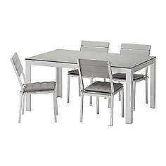 WTB Ikea Falster Grey Outdoor Dining Table