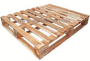 "Need 50+ 40x48"" 4-ways pallets, with HT stamp"