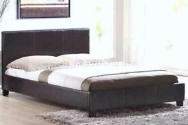 """new double bed and superior 10"""" mattress"""