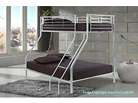 BRAND NEW TRIO SLEEPER METAL BUNK BED SAME DAY EXPRESS DELIVERY