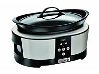 Crock-Pot Slow Cooker 5.7 Litre Polished Stainless Steel.. new