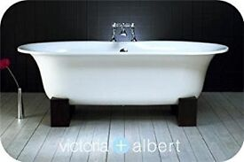 "Victoria & Albert ""Ella"" Quarrycast Freestanding Bath 1740mm x 800mm"