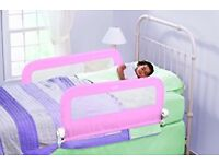 Grow with me pink double bed guard
