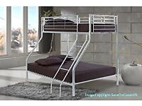 SAME DAY FAST DELIVERY! BRAND NEW TRIO SLEEPER METAL BUNK BED SAME DAY EXPRESS DELIVERY