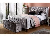 Meridian Kingsize Bed and Ottoman