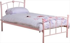 Caitlin Single Bed Frame - Pink